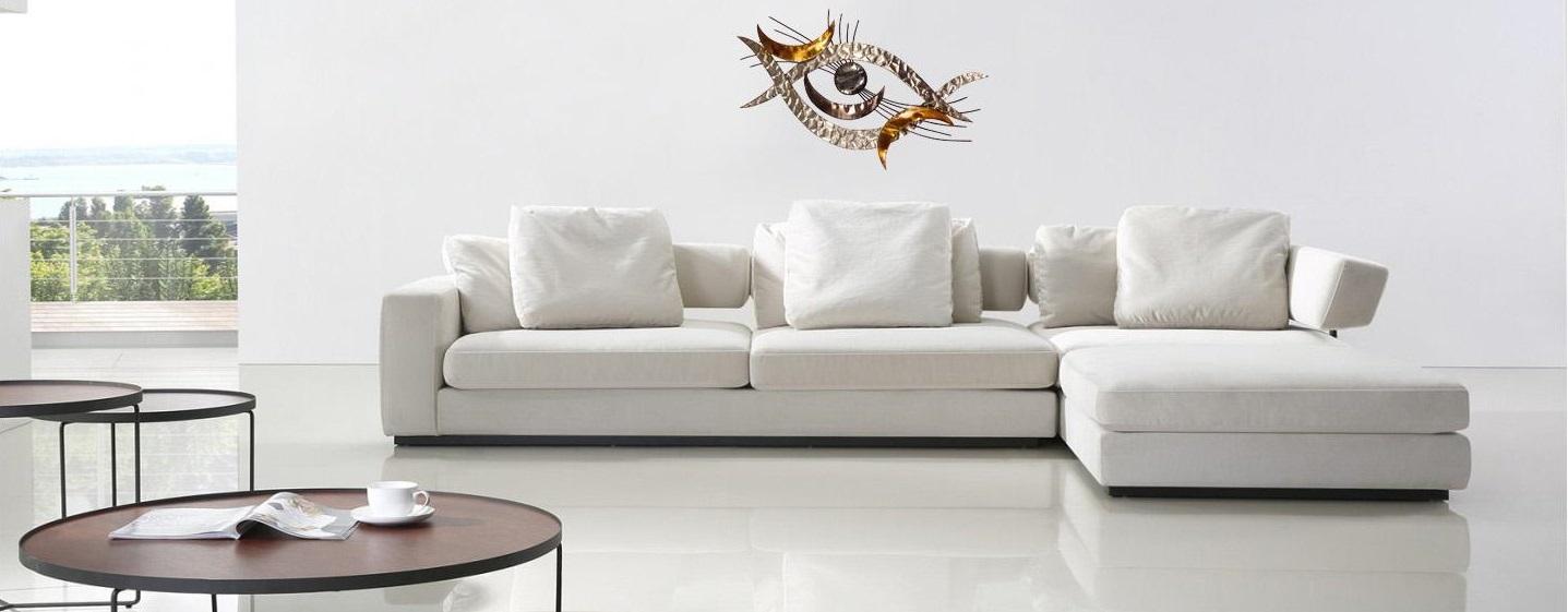 fresque murale métal décoration contemporaine intérieurs modernes et design