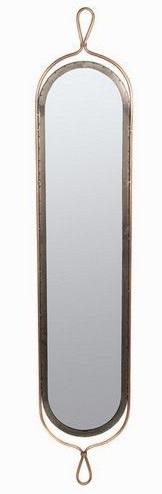 Grand miroir m tal d co vertical fintions cuivre argent for Miroir vertical